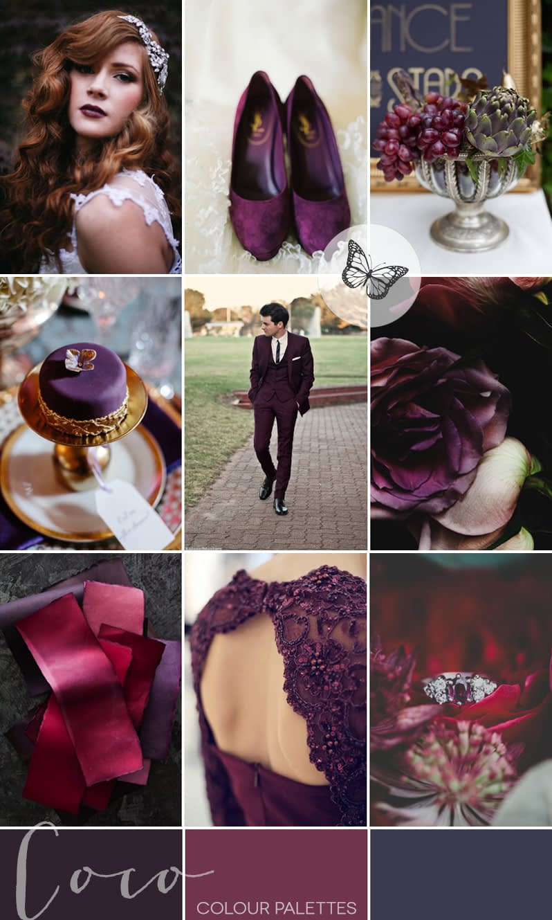 plum-purple-vintage-wedding-inspiration-coco-wedding-venues-colour-palette-1