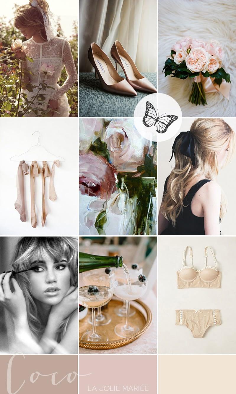 modern-vintage-bridal-boudoir-inspiration-sixties-coco-wedding-venues-coco-editorial-palette