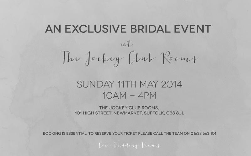 The Jockey Club Rooms - Event Invitation.