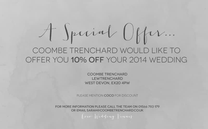 Coombe Trenchard Special Offer.