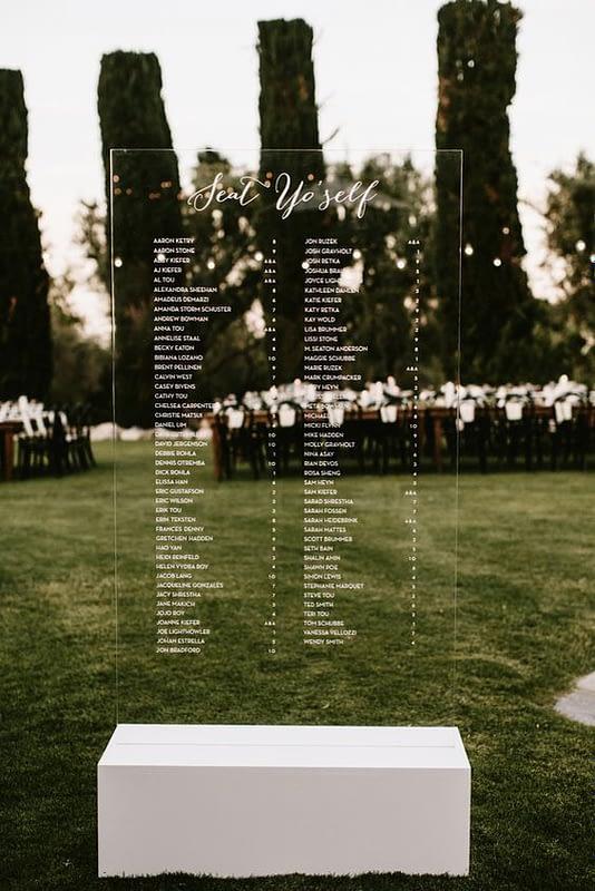 The 2017 Wedding Trend Report - Acrylic & Perspex.