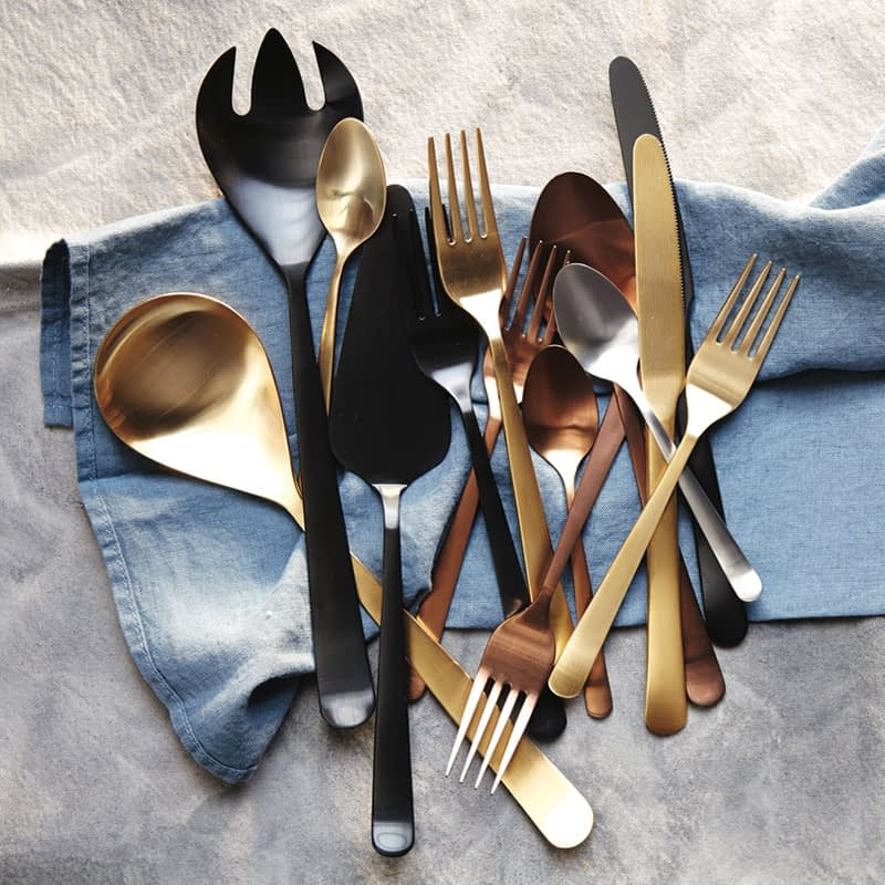 Canvas Home Metallic Cutlery, available in various colours £37.50 - £63.00.