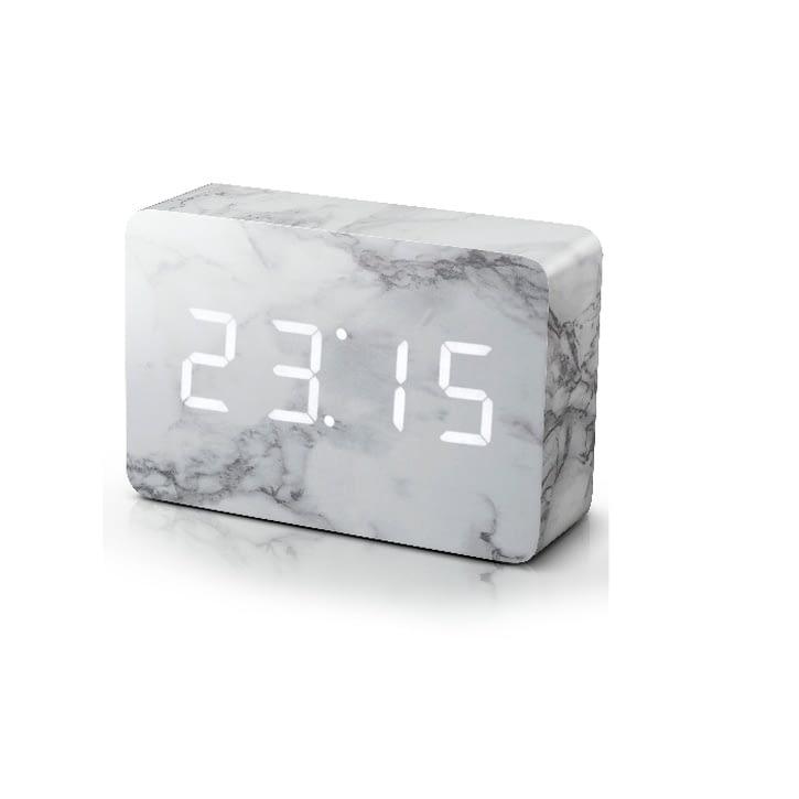 Gingko Brick Marble Effect Click Clock - £49.99.
