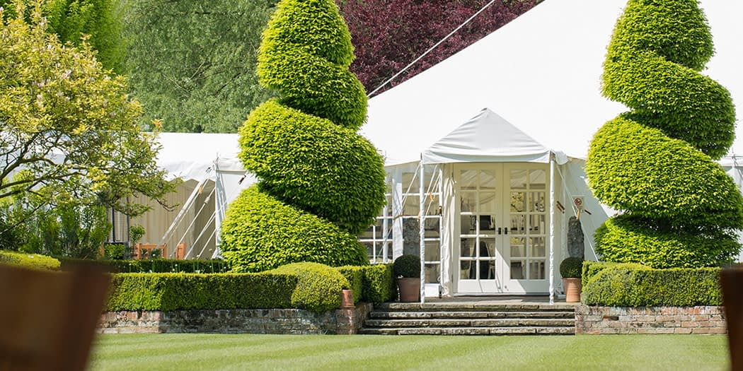 Wedding Open Day in The Marquee at Le Talbooth